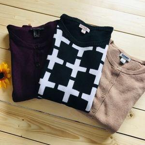 Sweater Cardigan Bundle of 3